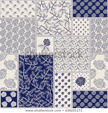 Luce senza soluzione di continuità floreale pattern contorno stilizzato Foto d'archivio © ESSL