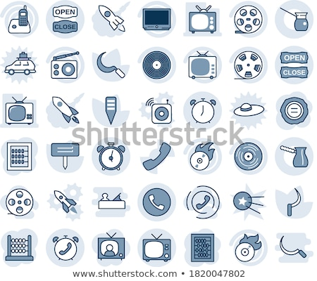 Cars - set of line design style blue icons Stock photo © Decorwithme