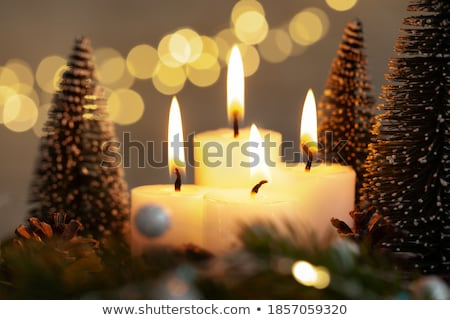 Church and christmas tree Stock photo © fyletto