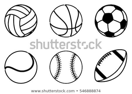 Stock photo: Baseball Ball Sketch Colorful Vector Illustration