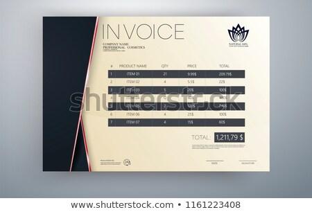 Nowoczesne rachunek szablon projektu czerwony ceny Zdjęcia stock © SArts