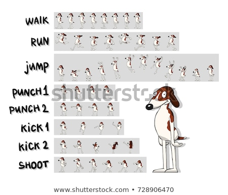 Game sprite sheets kicking Stock photo © bluering