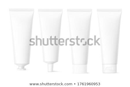 Kozmetik şişe şablon masmavi sıvı Stok fotoğraf © romvo