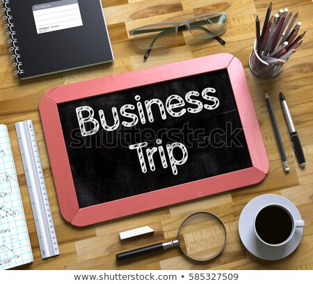 Business Tourism on Small Chalkboard. 3d Render Stock photo © tashatuvango