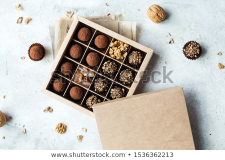 kutu · lezzetli · çikolata · şeker · tatlı · tatil - stok fotoğraf © barbaraneveu