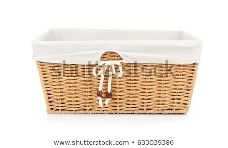 плетеный корзины белый природного изолированный Сток-фото © Epitavi