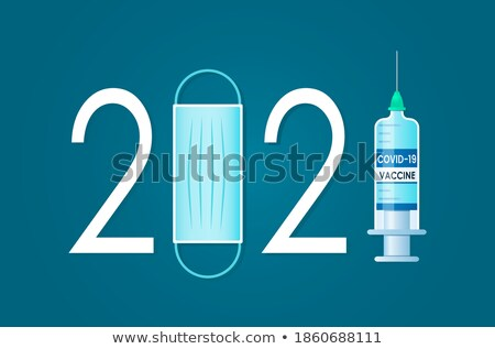 Medication Poster and Text Vector Illustration Stock photo © robuart
