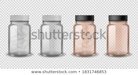 Blank Medical Capsules Painkillers Package Vector Stock photo © robuart