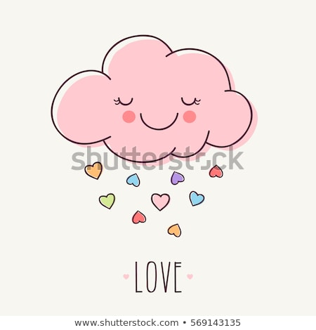 Karikatür bulut gülen örnek mutlu Stok fotoğraf © cthoman