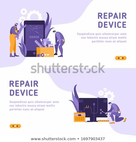 Mobiele ontwikkelaars groot telefoon mensen smartphone Stockfoto © robuart