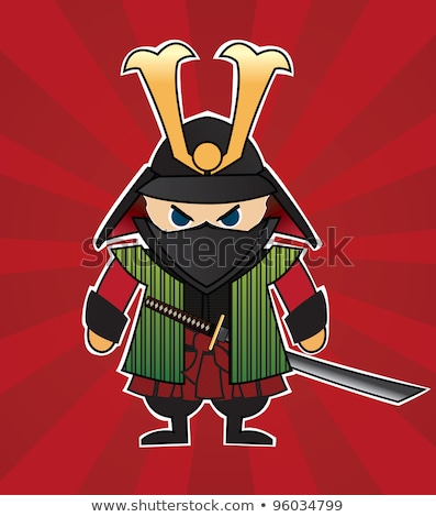 Angry Cartoon Samurai Stock photo © cthoman