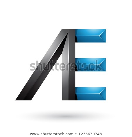 Black and Blue Pyramid Like Dual Letters of A and E Vector Illus Stock photo © cidepix