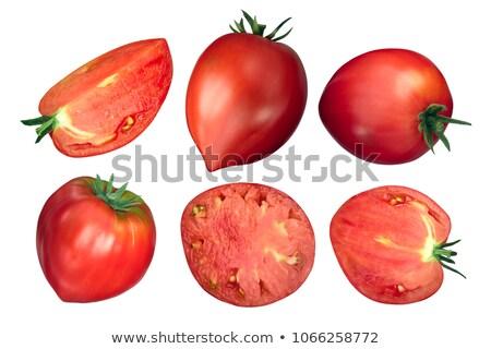 Tomates trimestre fatia topo ver Foto stock © maxsol7