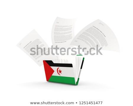 bandiera · occidentale · sahara · pennone · rendering · 3d · isolato - foto d'archivio © mikhailmishchenko