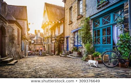 aldeia · rua · França · estreito · em · torno · de · canto - foto stock © hofmeester
