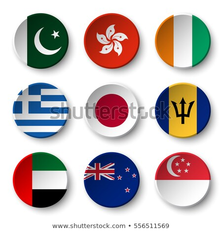 HongKong flag on round badge Stock photo © colematt