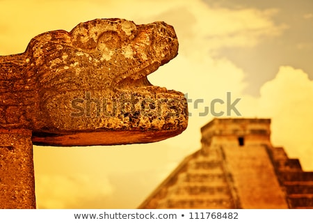 Chichen Itza Jaguar Mayan temple Mexico Stock photo © lunamarina