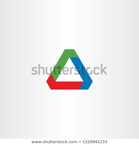 Negócio triângulo logotipo assinar vetor elemento Foto stock © blaskorizov