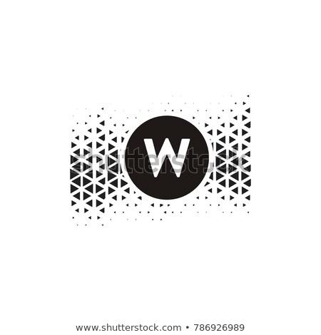 letter w halftone symbol vector black design Stock photo © blaskorizov