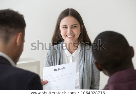 Boss in Office Interviewing New Woman Worker Job Stock photo © robuart