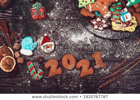 Christmas bakker rendier illustratie achtergrond kunst Stockfoto © colematt