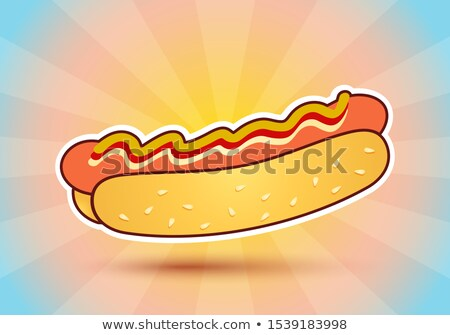 Sausage for Barbecue and Hot Dog in Cartoon Style Stock photo © robuart