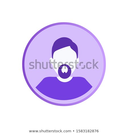 Bearded Man Private Userpic, Web Character Online Stock photo © robuart
