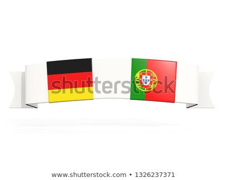 Banner with two square flags of Germany and portugal Stock photo © MikhailMishchenko