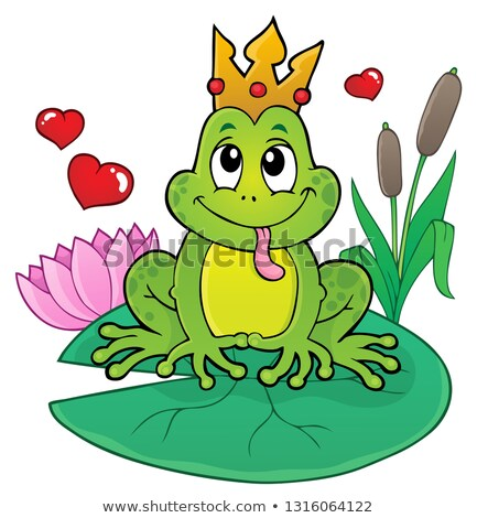 Foto d'archivio: Frog With Crown Theme Image 2
