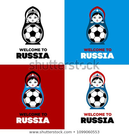 Set of elements of Russian culture. Welcome to Russia. Vector il Stock photo © Arkadivna