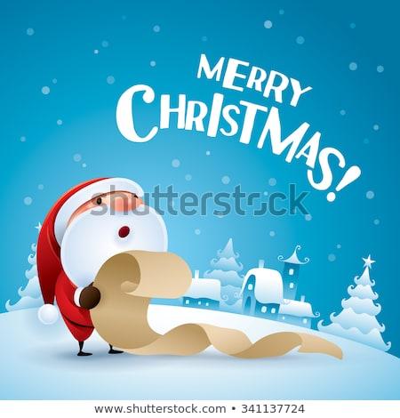 Noel tebrik kartı liste vektör Stok fotoğraf © robuart
