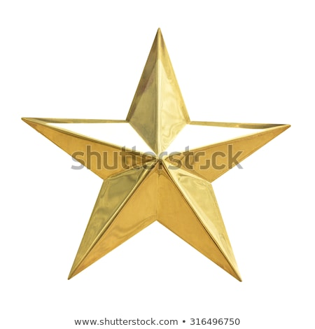 Glitter Golden Star Isolated Stock photo © barbaliss