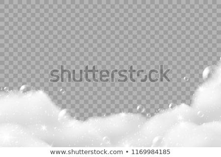 Szappan sampon buborékok hab víz kék Stock fotó © SArts