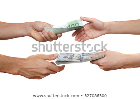 Human's Hand Exchanging The Money Stock photo © AndreyPopov