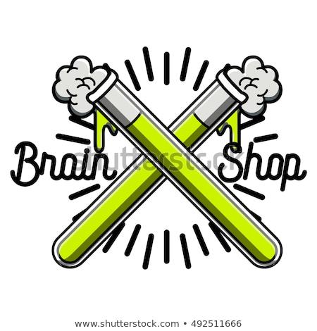 Stockfoto: Color Vintage Scientific Shops Emblem