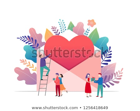 Romantic date concept landing page. Stock photo © RAStudio