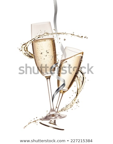 Champagne Glasses with Alcoholic Poured Beverage Stock photo © robuart