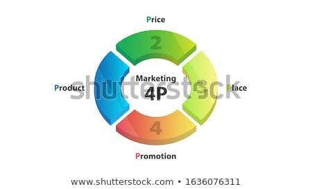 Wektora kółko szablon cyklu schemat Zdjęcia stock © kyryloff