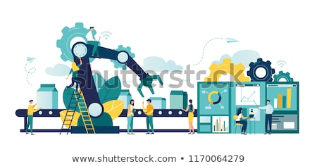 digital vector machine automation stock photo © frimufilms