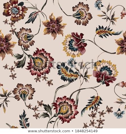 Klasszikus díszes elegáns retro absztrakt virágmintás Stock fotó © Morphart