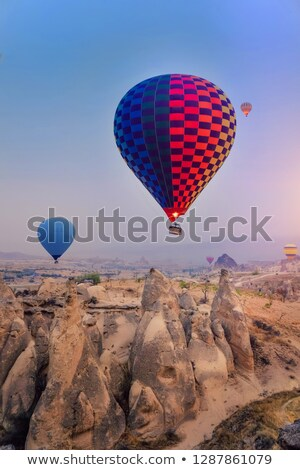 close up of hill or mountain over blue sky Stock photo © dolgachov