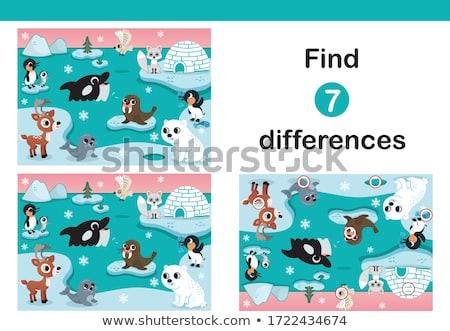Diferenças jogo desenho animado Foto stock © izakowski