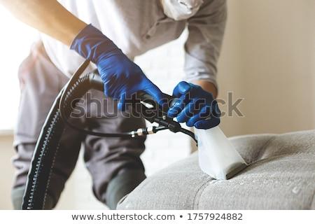 человека очистки диван пылесос фото человек Сток-фото © AndreyPopov