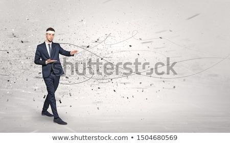 Karatê homem caótico jovem treinador esportes Foto stock © ra2studio