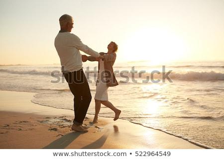 gelukkig · ander · strand · portret - stockfoto © andreypopov
