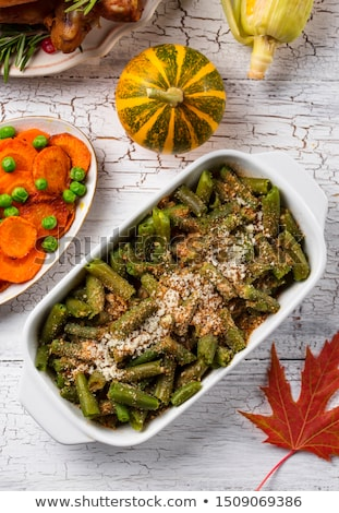 Green beans crumble with breadcrumbs Stock photo © furmanphoto