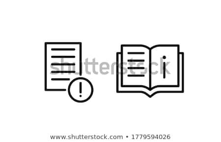 Livros informação livros didáticos escolas conjunto vetor Foto stock © robuart
