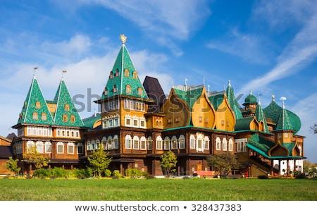 Bois palais Moscou bâtiment toit histoire Photo stock © borisb17