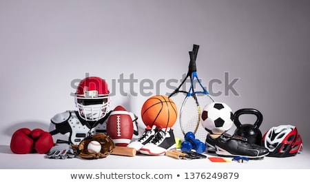 Variëteit sportartikelen grijs verschillend voetbal Stockfoto © AndreyPopov