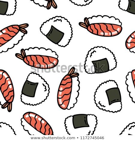 Arroz refeição desenho animado comida abstrato Foto stock © yopixart